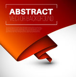 Vector abstract background with folded red paper Stock Photo