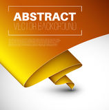 Vector abstract background with folded yellow paper Royalty Free Stock Photography