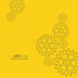Vector abstract background with gear whee Stock Photography
