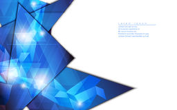 Vector abstract background geometric shape template design hi tech concept Royalty Free Stock Photography