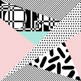 Vector abstract background. Background with geometric shapes, the design of the 80s - vector illustration. In retro memphis group style card stock illustration