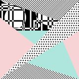 Vector abstract background. Background with geometric shapes, the design of the 80s - vector illustration. In retro memphis group style card vector illustration