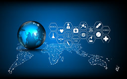 Free Vector Abstract Background Global Technology Medical Innovation Concept Stock Image - 71974621