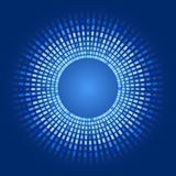 Vector abstract background glowing pixels. Blue abstract background - circles of glowing pixels, concentric circles. vector illustration - you can simply change Royalty Free Stock Photo