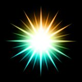 Vector Abstract Background With Glowing Star. This is file of EPS10 format Stock Photo