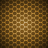 Vector abstract background. Gold vector abstract hexagon honeycomb background pattern Royalty Free Stock Photography