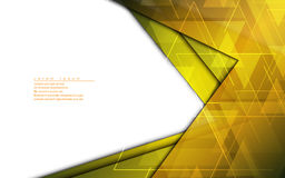 Vector abstract background golden frame modern design template. Eps 10 vector Royalty Free Stock Photos