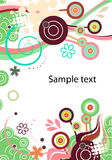 Vector abstract background in green. Vector abstract floral background in green vector illustration