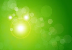 Vector abstract background green bokeh Royalty Free Stock Photo