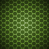 Vector abstract background. Green vector abstract hexagon background pattern Stock Photography