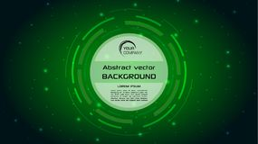 Vector abstract background with green HUD circle. EPS10 Stock Photo