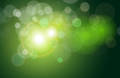 Vector abstract background green lights Stock Photos