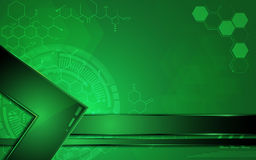 Vector abstract background green scientific concept and metallic frame. EPS 10 vector illustration