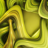 Vector abstract background with green waves Stock Photo