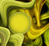 Vector abstract background with green waves and place for your t Royalty Free Stock Photos