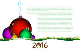 Vector abstract background happy new year celebration 2016 design template Stock Image