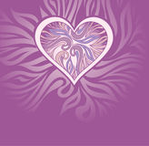 Vector abstract background with heart Royalty Free Stock Photos