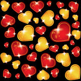 Vector abstract background with hearts Royalty Free Stock Images