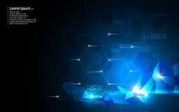 Vector abstract background hexagon and low poly design innovation concept Royalty Free Stock Images