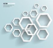 Vector abstract background Hexagon. Web and Design Stock Image