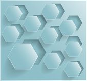 Vector abstract background Hexagon. Web and Design Stock Photography