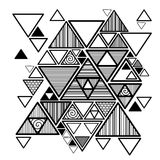 Vector abstract background with hipster triangles. Abstract background with hipster triangles. Geometric design monochrome element pattern, vector illustration stock illustration
