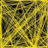 Vector abstract background of interwoven yellow lines. Net royalty free illustration