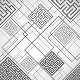 Vector - abstract background with labyrinths. The abstract background with labyrinths Stock Image