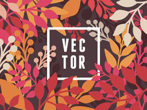 Vector abstract background with leaves. Banner template with copy space for text Stock Photos