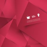 Vector abstract background. Lines shadow. And red Stock Photography