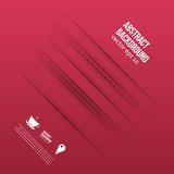 Vector abstract background. Lines shadow and red Royalty Free Stock Photography