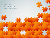 Vector Abstract background made from puzzle pieces. Vector Abstract background made from orange puzzle pieces and place for your content Royalty Free Stock Photography