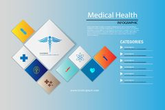 Vector abstract background medical health care pharmacy concept vector illustration
