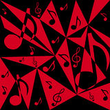 Vector abstract background with music notes Stock Photos