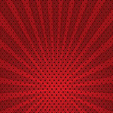 Vector Abstract Background Of Red Star Burst . Stock Images