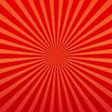 Vector abstract background of orange and red star burst rays. Orange and red background, sun rays and small dots vector illustration. Autumn fall wallpaper royalty free illustration