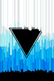 Vector abstract background with paint pouring around triangle Stock Images