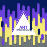 Vector abstract background with paint pouring around triangle Stock Photos