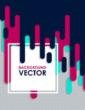 Vector abstract background with paint and rectangular Stock Photo