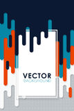 Vector abstract background with paint and rectangular Royalty Free Stock Photography