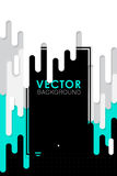 Vector abstract background with paint and rectangular Royalty Free Stock Photos