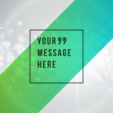 Vector abstract background and place for Quote Stock Photo