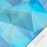 Vector abstract background. Polygon blue and card Stock Image