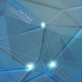 Vector abstract background. Polygon blue and card Royalty Free Stock Photo