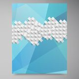 Vector abstract background. Polygon blue and card. Geometric Stock Photography