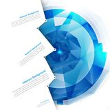 Vector abstract background. Polygon blue Stock Image