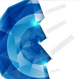 Vector abstract background. Polygon blue Royalty Free Stock Image