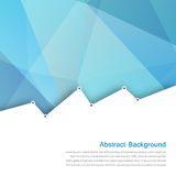 Vector abstract background. Polygon blue and card Stock Photos