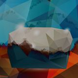 Vector abstract background. Polygon blue. And card geometric Royalty Free Illustration