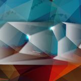 Vector abstract background. Polygon blue. And card geometric Stock Illustration